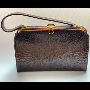 Vintage Mastercraft real alligator leather handbag